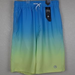 Ocean Current Branson Ombre Drawstring Swim Trunks